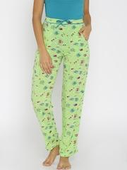 Enamor Green Printed Pyjamas M004