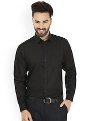 JAINISH Men Black Comfort Fit Solid Formal Shirt