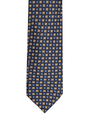 INVICTUS Navy Geometric Patterned Tie