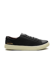 United Colors of Benetton Men Suede Black Sneakers