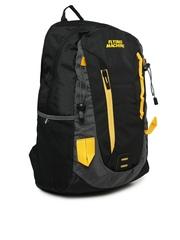Flying Machine Men Black & Grey Laptop Backpack