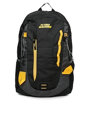 Flying Machine Men Black   Grey Laptop Backpack Flying Machine Backpacks