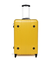 Tommy Hilfiger Unisex Yellow Medium Trolley Suitcase