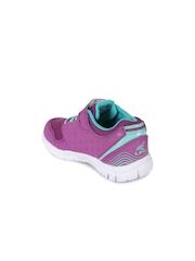 Lilliput Kids Purple Solid Regular Sneakers