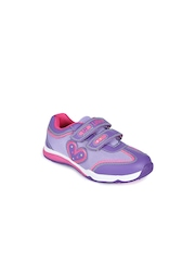 Lilliput Girls Purple Solid Regular Sneakers