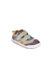 Lilliput Boys Beige Perforations Regular Sneakers