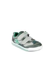 Lilliput Boys Green Perforations Regular Sneakers