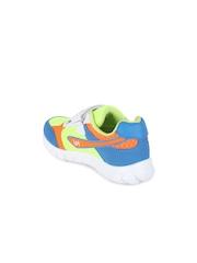 Lilliput Boys Green & Blue Colourblocked Regular Sneakers