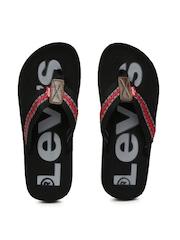 Levis Men Red & Black Flip-Flops