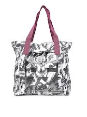 Reebok Women Black Studio Printed Duffle Bag