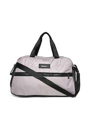 Reebok Women Taupe Studio Printed Duffel Bag