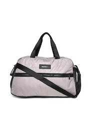 Reebok Women Taupe Studio Printed Duffel Bag
