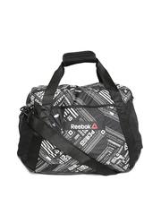 Reebok Women Black OS Grip 30L B Printed Training Duffel Bag