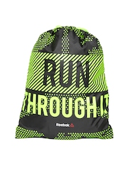 Reebok Unisex Black Printed Convertible Gym Sack S94218