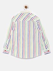 Allen Solly Junior Boys Multicolour Striped Casual Shirt