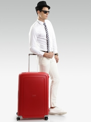Samsonite Unisex Red S'cure Spinner Large Trolley Suitcase