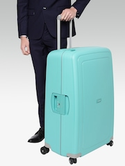 Samsonite Unisex Sea Green Textured S'cure SP Large Trolley Suitcase