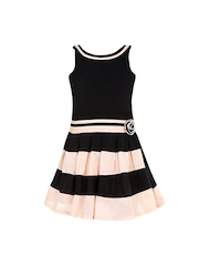 naughty ninos Girls Black Solid A-line Dress