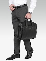 Samsonite Unisex Black Moira Leather Laptop Bag