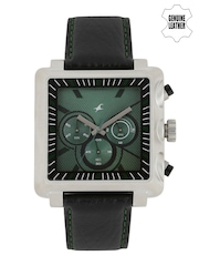 Fastrack Men Teal Green Dial Chronograph Watch 3111SL02