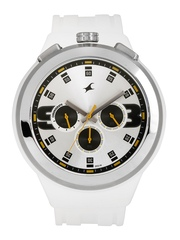 Fastrack Men Silver-Toned Dial Chronograph Watch 38002PP01J