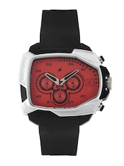 Fastrack Men Chronograph Red Analogue Watch 38005PP03J