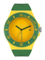 Fastrack Unisex Yellow Analogue DIY Watch Kit 9949PP09