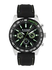 Titan Men Black Dial Watch 9491KP02J