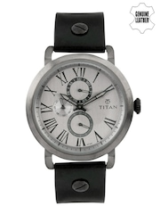 Titan Men Gunmetal-Toned Dial Watch 90049QL02J