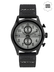 Titan Men Grey Dial Chronograph Watch 90052QL01J