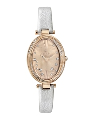 Titan Women Rose Gold-Toned Dial Embellished Watch 95025WL01J