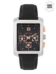 Titan Men Black Dial Chronograph Watch 1679SL02