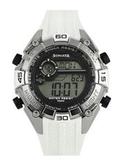 Sonata Men White Digital Watch 77026PP02J