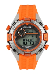 Sonata Men Orange Digital Watch 77026PP03J