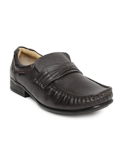 Red Chief Men Brown Leather Slip-Ons