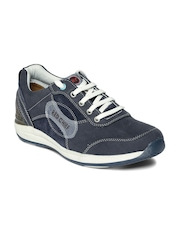 Red Chief Men Blue Leather Sneakers