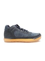CAT Men Navy Foreseen Solid Leather Sneakers