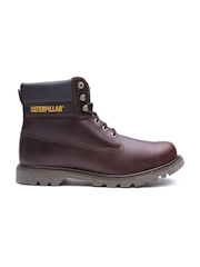 CAT Men Burgundy Colorado Leather Boots
