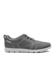 CAT Men Charcoal Grey Breck Leather Casual Shoes