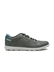 CAT Men Grey Maddox Leather Sneakers