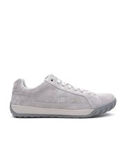 CAT Men Grey Nevins Wolverine Leather Sneakers
