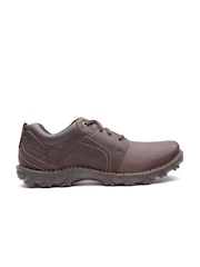 CAT Men Coffee Brown Emerge Leather Casual Shoes