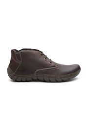 CAT Men Brown Solid Leather Derbys