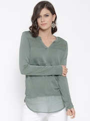 All About You from Deepika Padukone Women Grey Panelled Regular Top