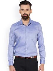 Turtle Men Blue Slim Fit Formal Shirt