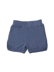 Weedots Girls Blue Solid Regular Fit Shorts