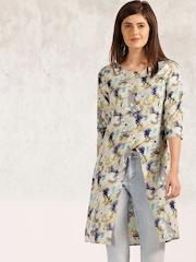 Anouk Women Off-white Floral Print Tunic