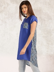 Anouk Women Blue Printed Tunic