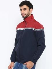 Nature Casuals Navy & Red Colourblocked Windcheater Jacket