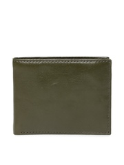 Fossil Men Olive Green Genuine Leather Wallet
